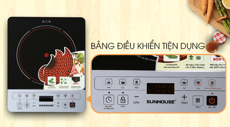 Bếp hồng ngoại Sunhouse SHD 6005 hình 6