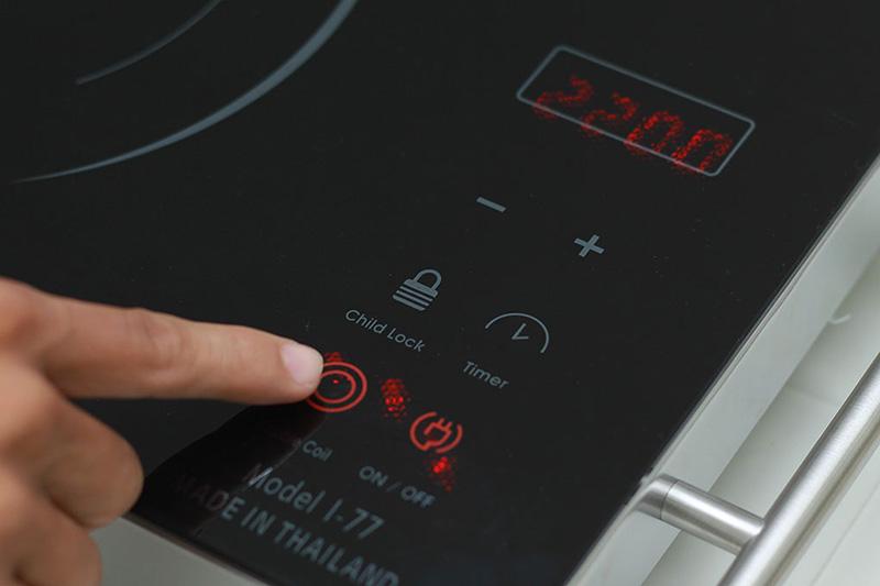 Thay đổi kích thước vòng nấu - Bếp hồng ngoại Iruka I77