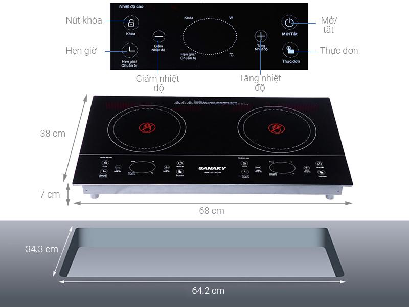 Thông số kỹ thuật Bếp hồng ngoại đôi Sanaky SNK-201HGW