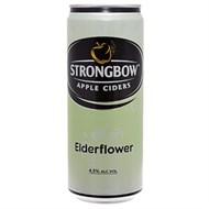 Nước táo lên men Ciders Strongbow Elder Flower Sleek lon 330ml