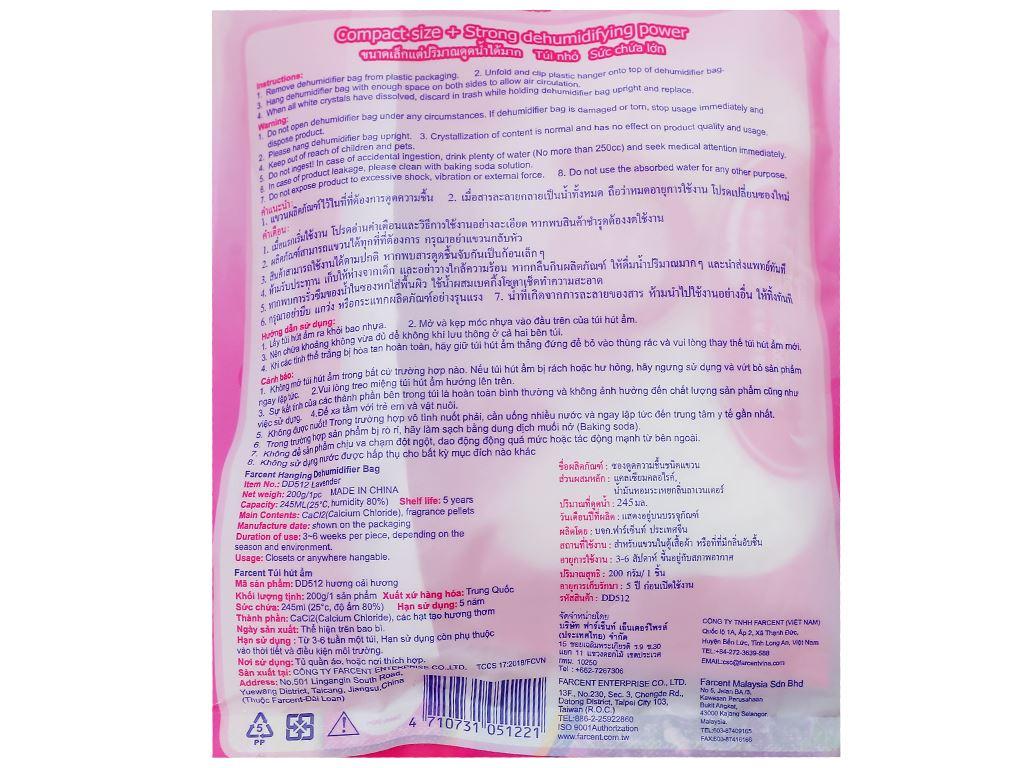 Túi hút ẩm Farcent hương hoa oải hương 200g 4