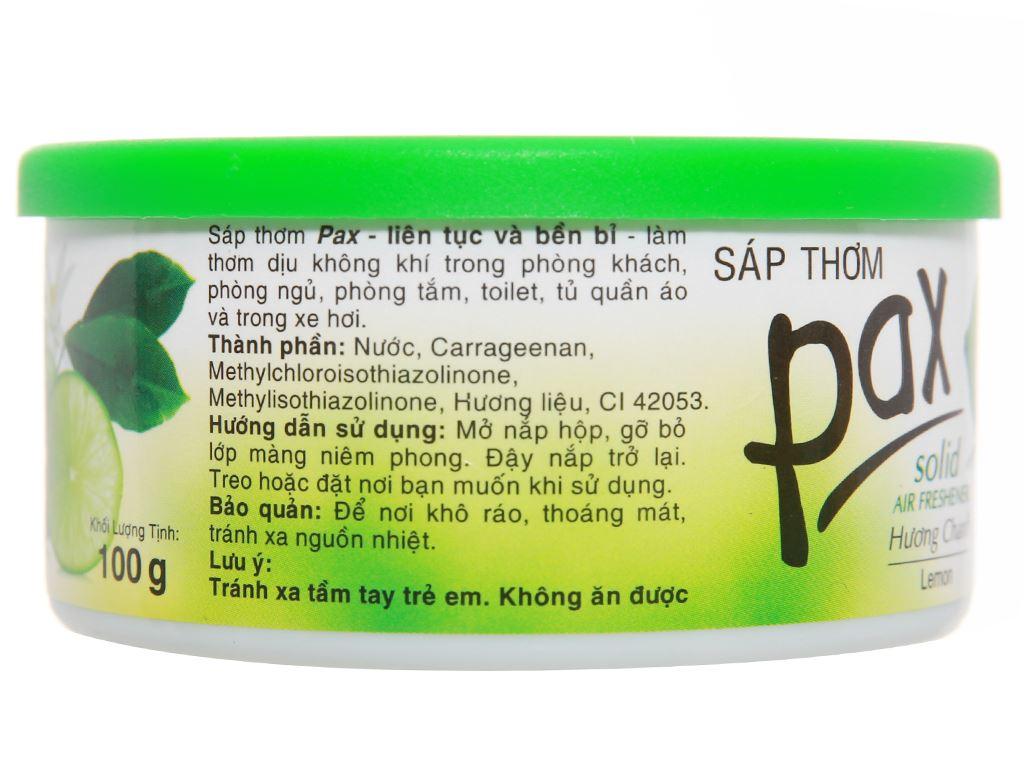 Sáp thơm Pax hương chanh 100g 3