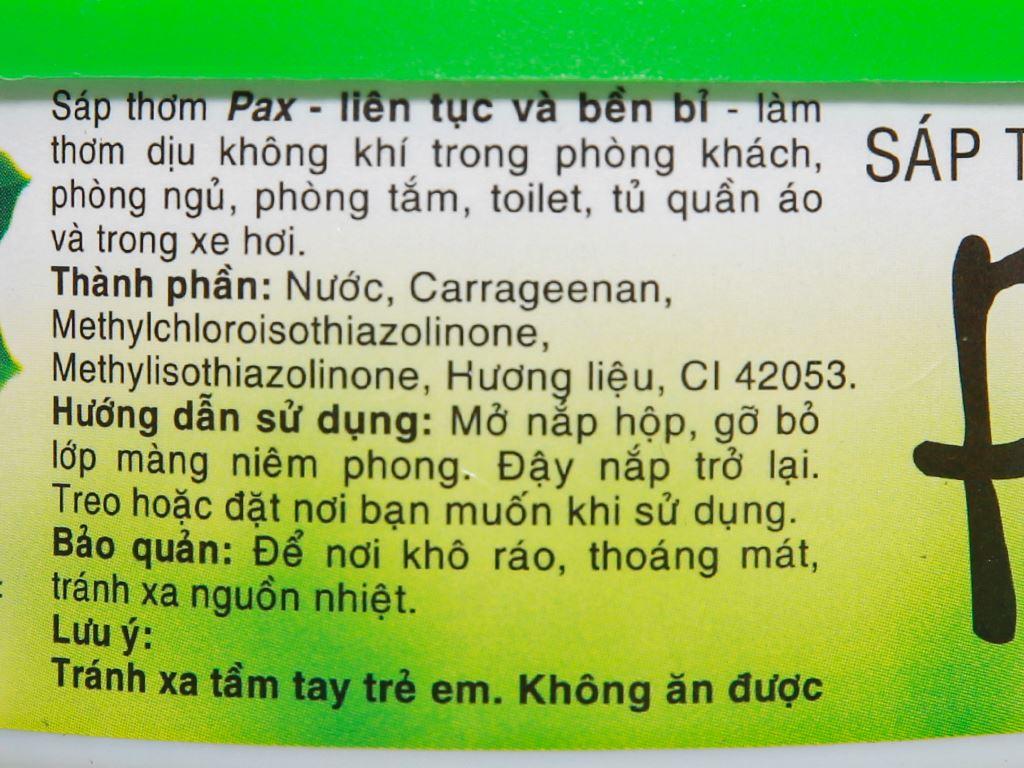 Sáp thơm Pax hương chanh 100g 4
