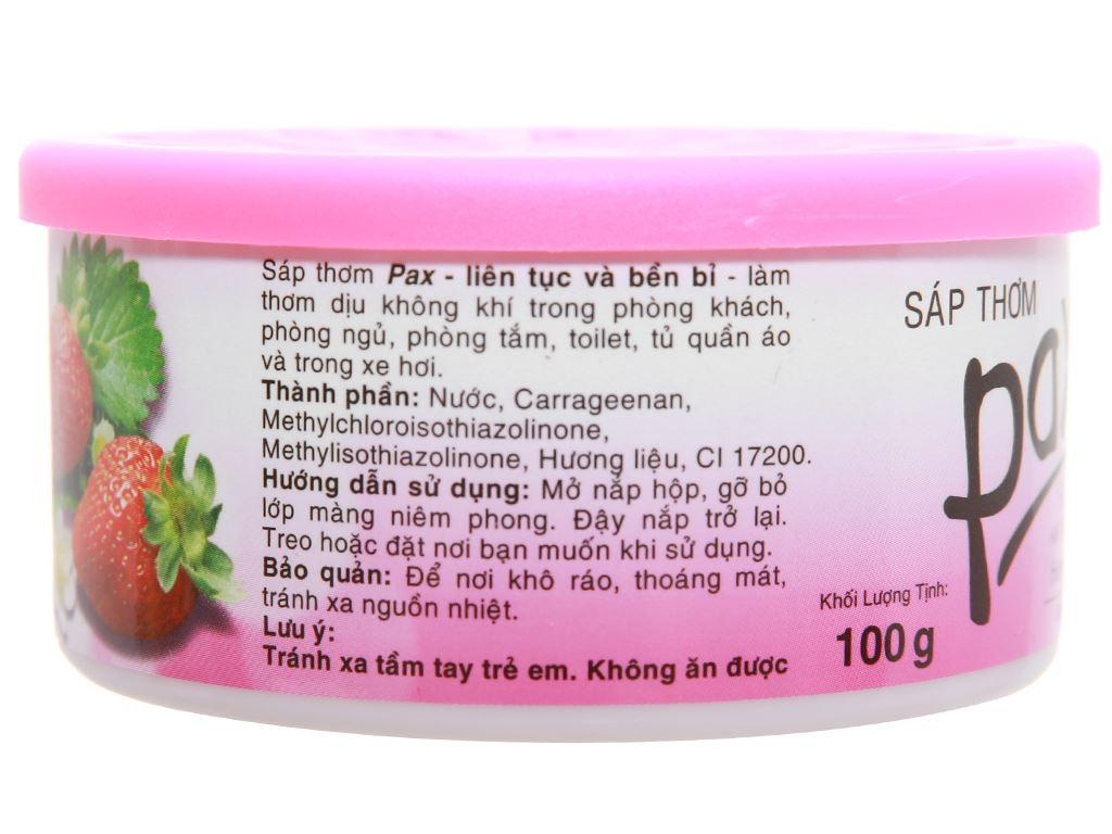 Sáp thơm Pax hương dâu 100g 3