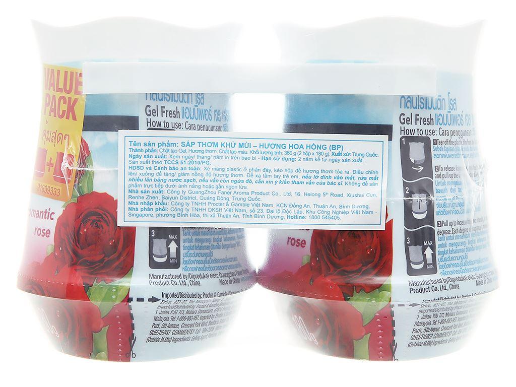Bộ 2 hộp sáp thơm Ambi Pur hương hoa hồng 180g 2