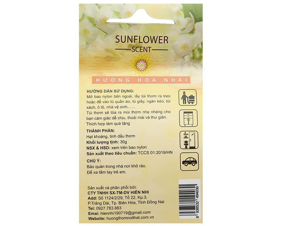 Túi thơm Sunflower hương hoa nhài 30g 2