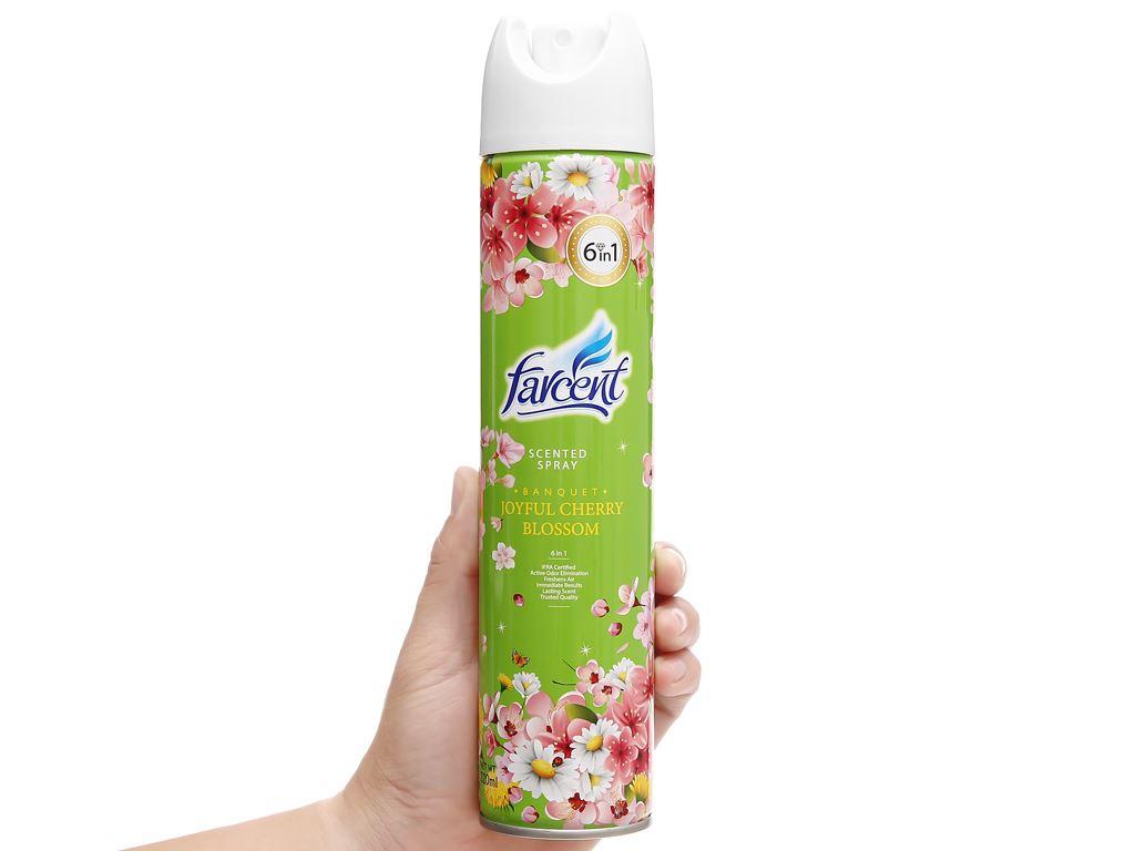 Xịt phòng Farcent hương hoa anh đào 320ml 9
