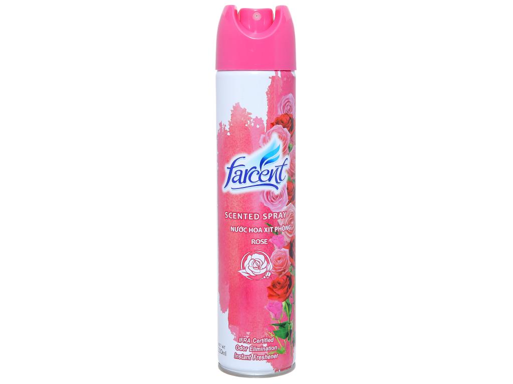 Xịt phòng Farcent hương hoa Hồng 320ml 2