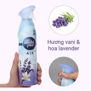 Xịt phòng Ambi Pur Air hương vani và hoa oải hương 275g