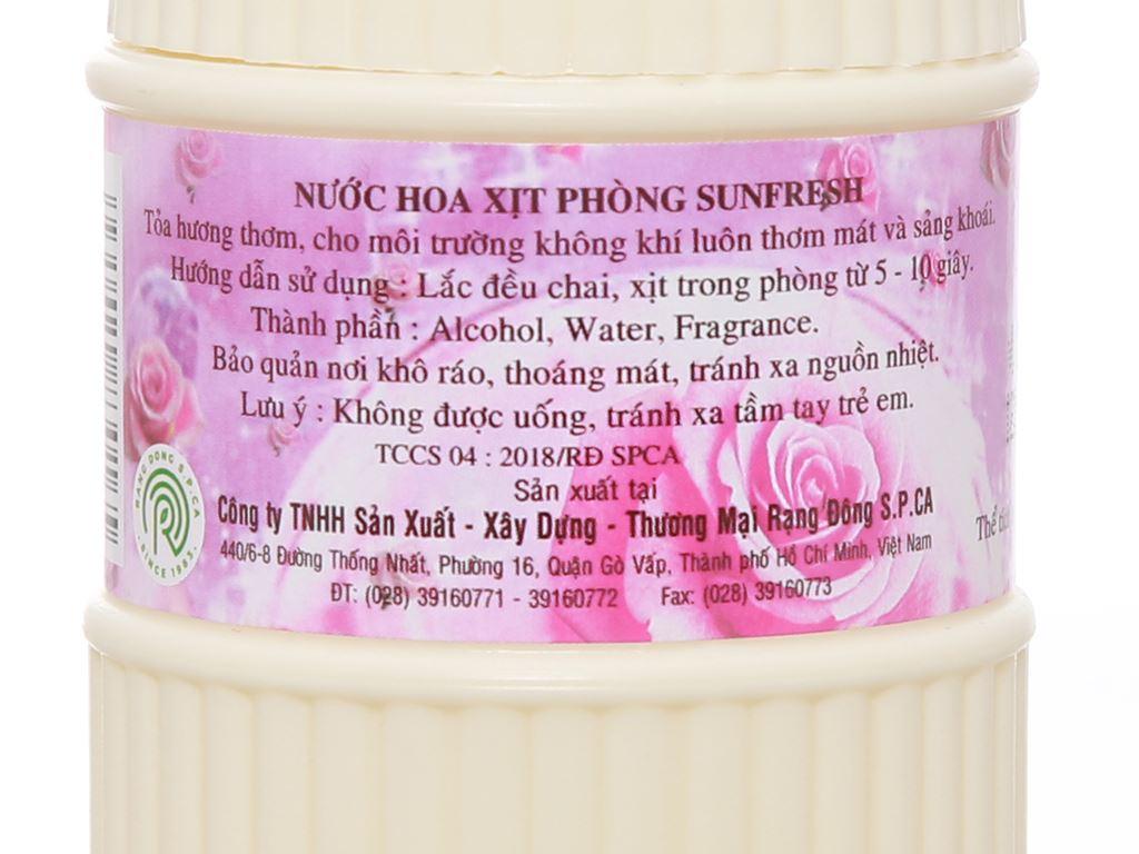 Nước hoa xịt phòng Sunfresh hương phấn 380ml 3