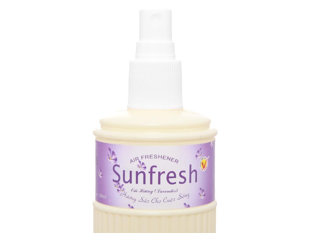 Nước hoa xịt phòng Sunfresh hương hoa oải hương 380ml 4