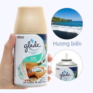Chai xịt refill Glade hương biển 175g