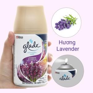 Chai xịt refill Glade hương vani và hoa oải hương 175g