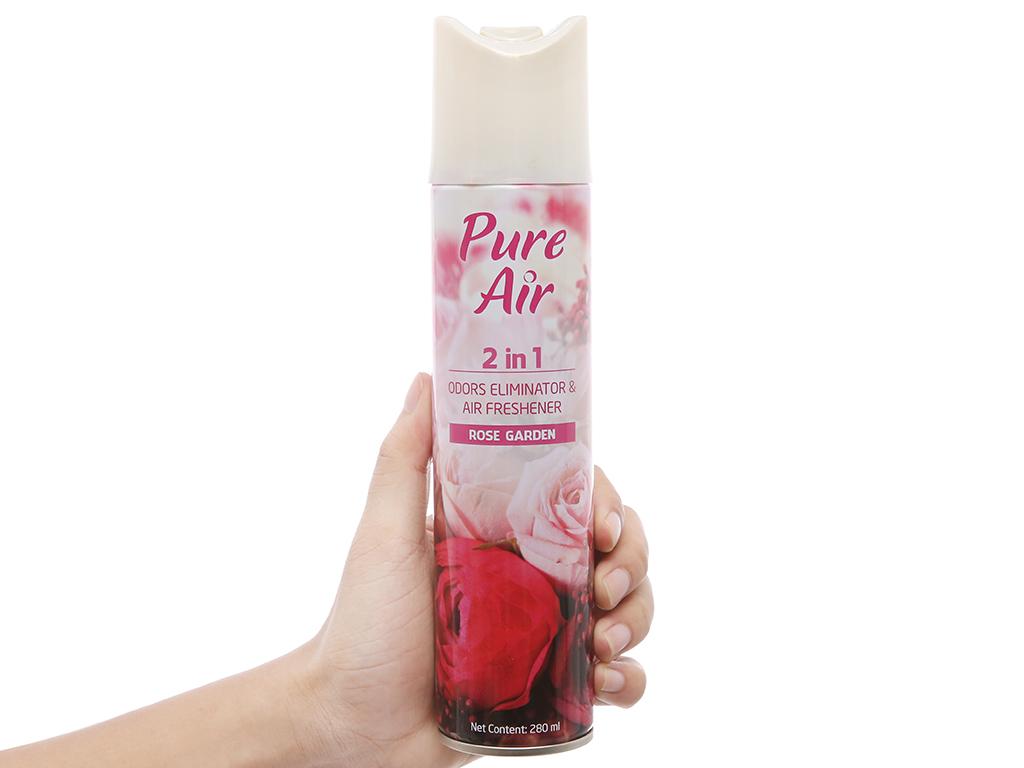 Xịt phòng Pure Air hương hoa hồng say đắm 280ml 4