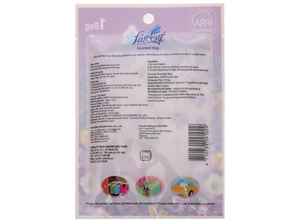 Túi thơm Farcent hương hoa oải hương 10g 3