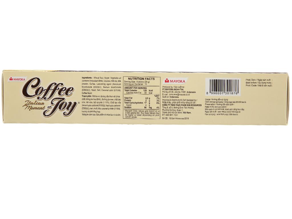 Bánh quy vị cà phê Coffee Joy hộp 360g 3