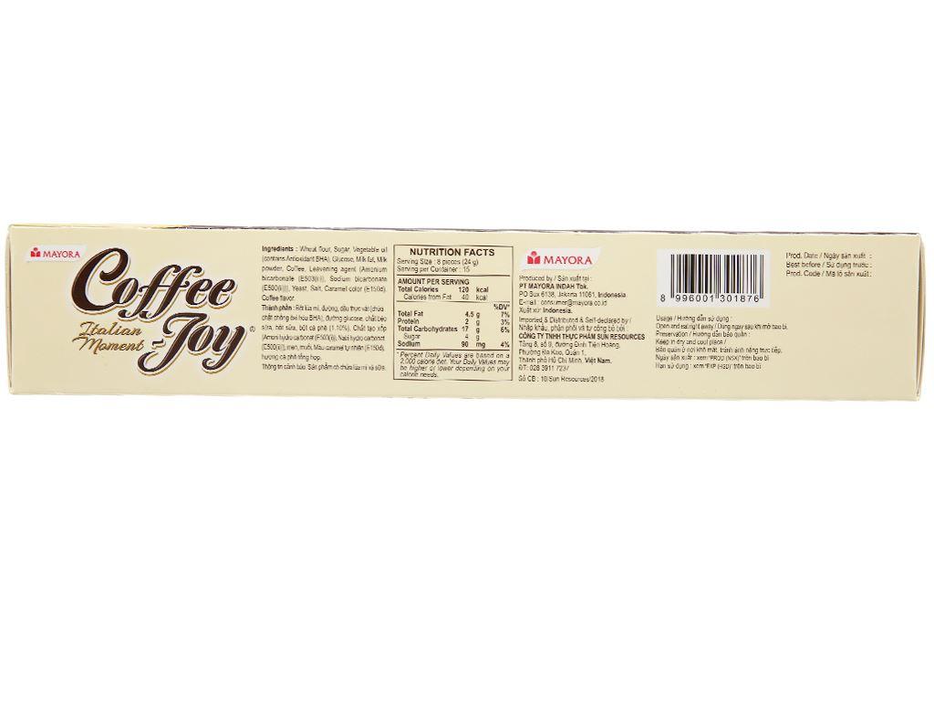 Bánh quy vị cà phê Coffee Joy hộp 360g 2