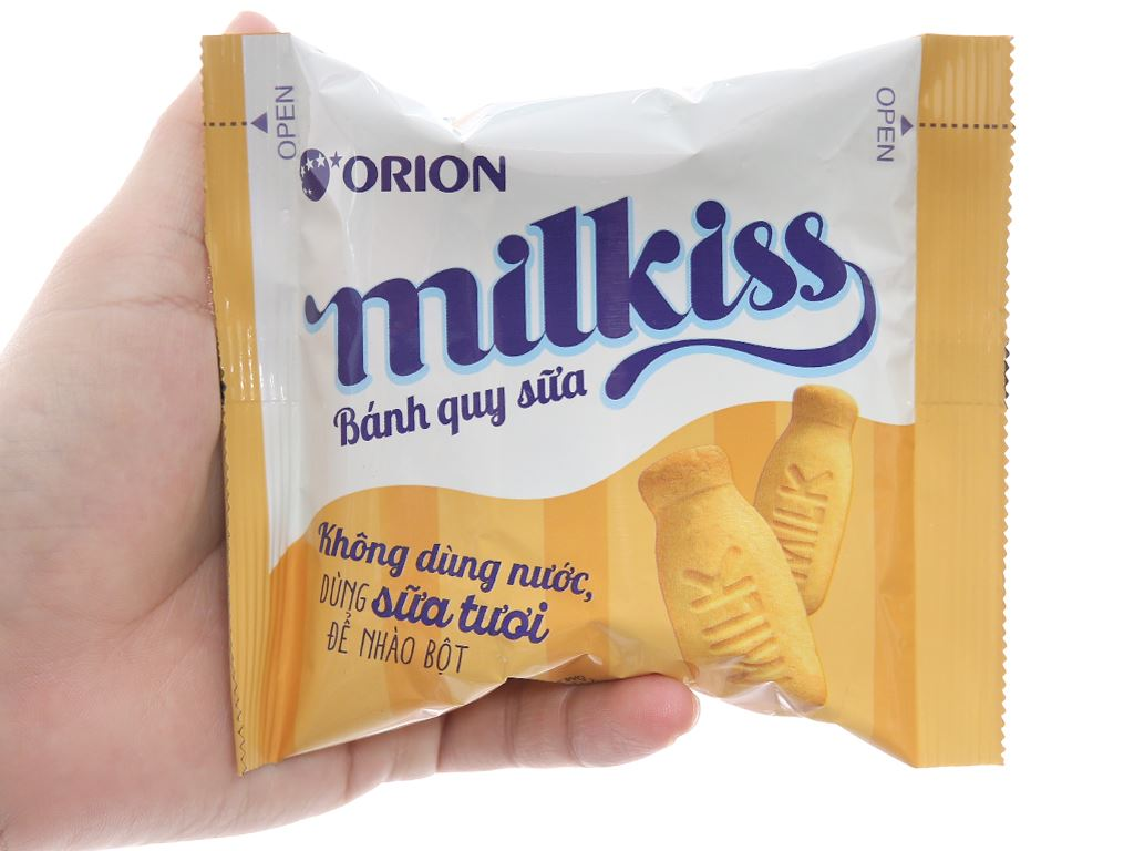 Bánh quy sữa Orion Milkiss hộp 120g 4