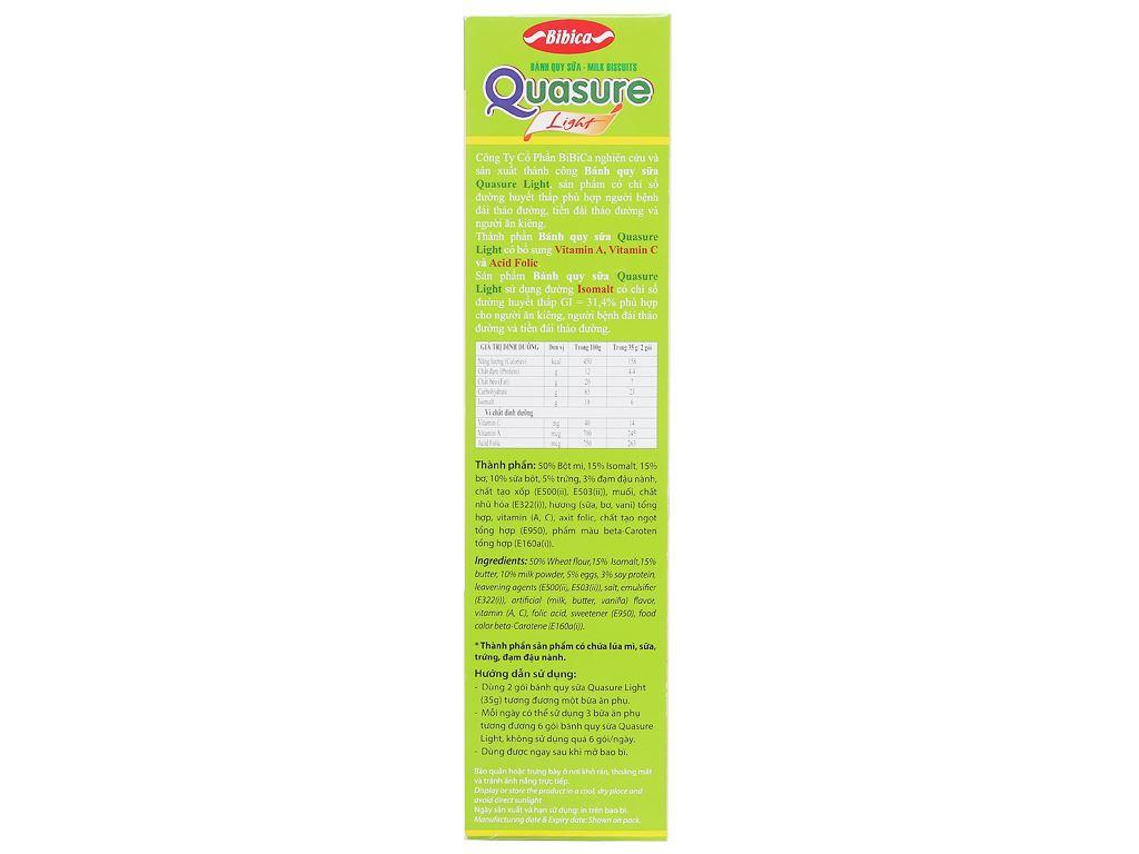 Bánh quy sữa cho người tiểu đường Quasure Light hộp 140g 2