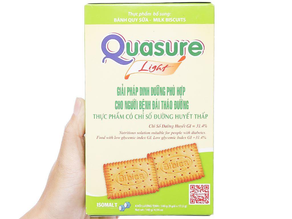 Bánh quy sữa cho người tiểu đường Quasure Light hộp 140g 3
