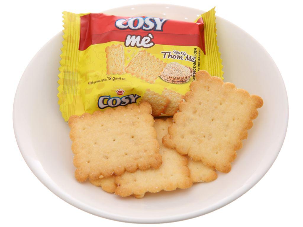 Bánh quy mè Cosy hộp 144g 4