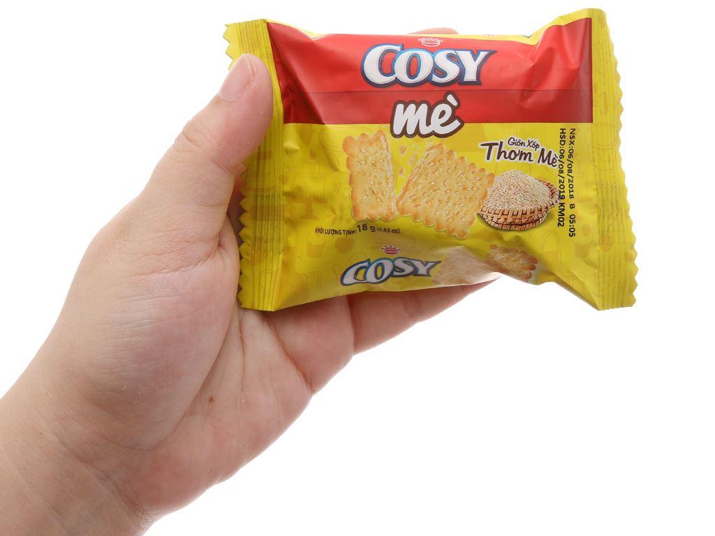 Bánh quy mè Cosy hộp 144g 3
