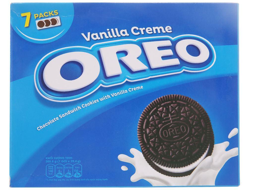 Bánh quy Nhân kem hương vani Oreo 205.8g 2
