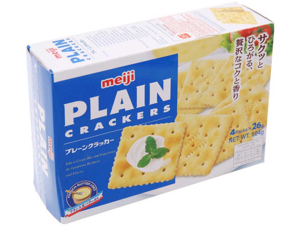 Bánh quy Bơ Meiji Plain 104g 1