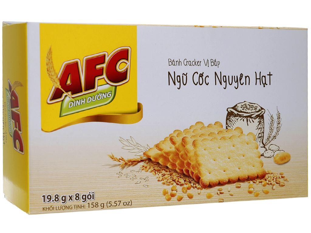 Bánh quy ngọt AFC Ngũ cốc nguyên hạt vị bắp 158g 2