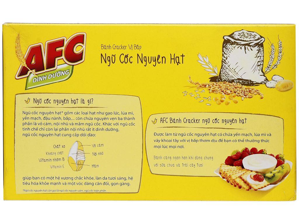 Bánh quy ngọt AFC Ngũ cốc nguyên hạt vị bắp 158g 3