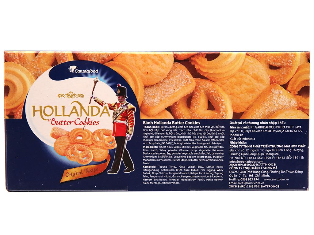 Bánh quy bơ GarudaFood Hollanda hộp 300g 3