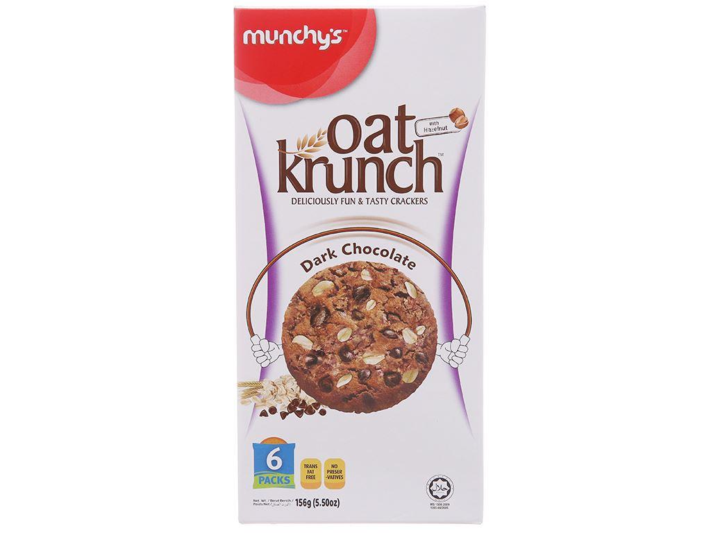 Bánh yến mạch socola đen Munchy's Oat Krunch hộp 156g 2
