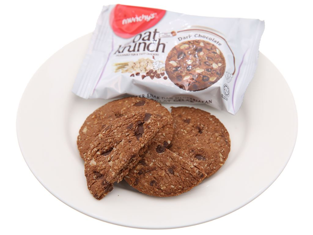 Bánh yến mạch socola đen Munchy's Oat Krunch hộp 156g 4