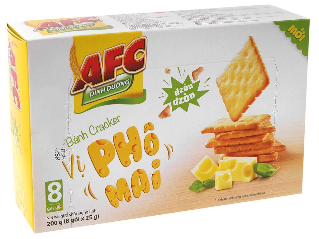 Bánh cracker vị phô mai AFC Dinh Dưỡng hộp 200g 2