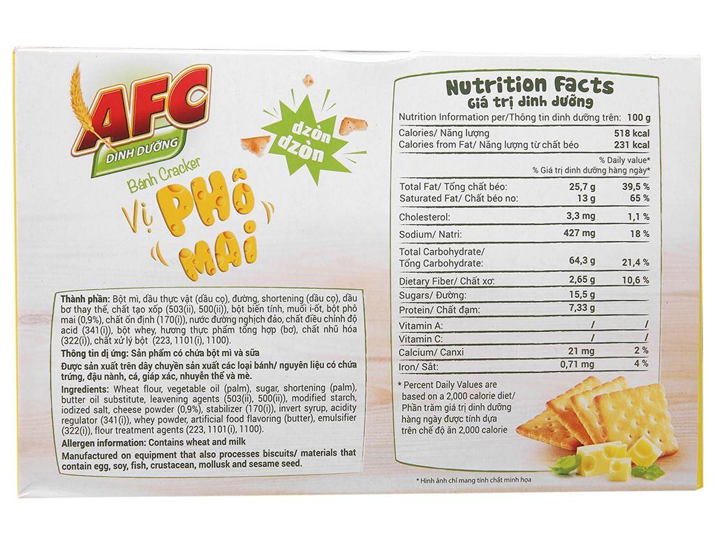 Bánh cracker vị phô mai AFC Dinh Dưỡng hộp 200g 3
