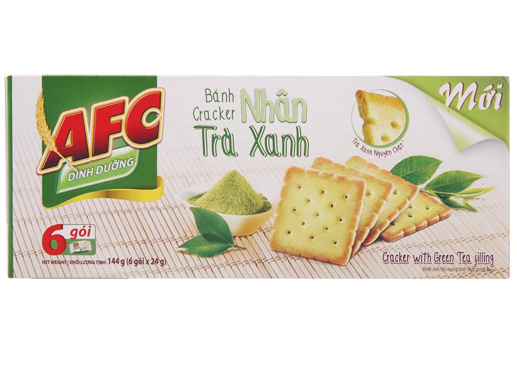 Bánh quy dinh dưỡng nhân trà xanh AFC hộp 144g 2