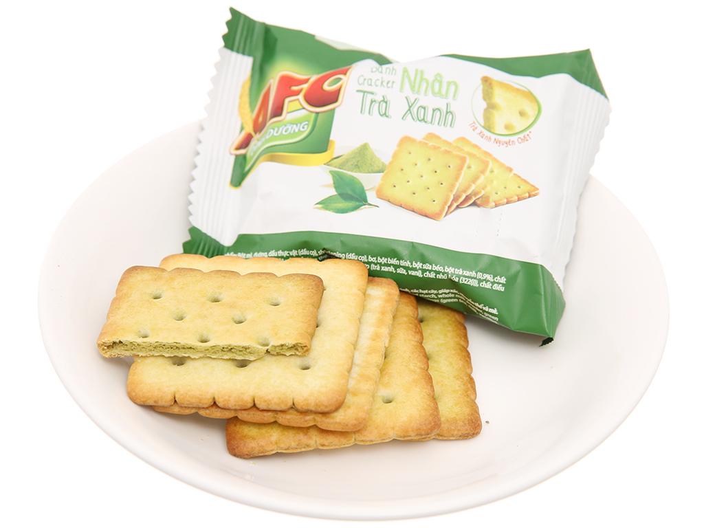 Bánh quy dinh dưỡng nhân trà xanh AFC hộp 144g 4