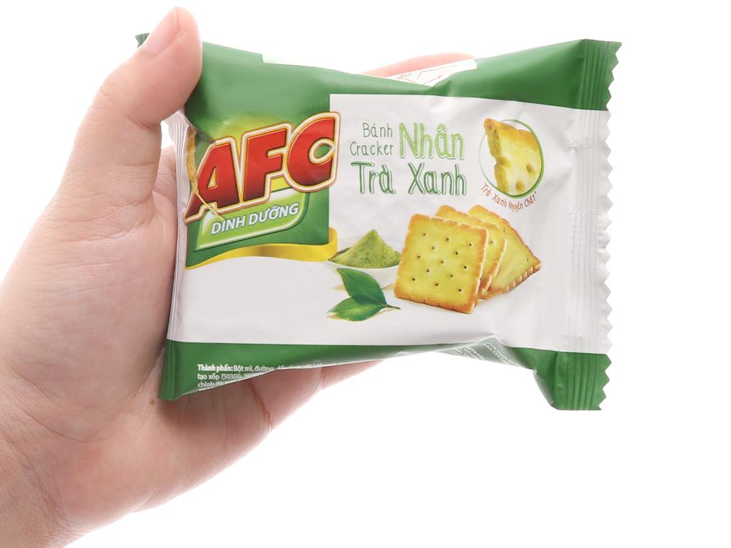 Bánh quy dinh dưỡng nhân trà xanh AFC hộp 144g 5