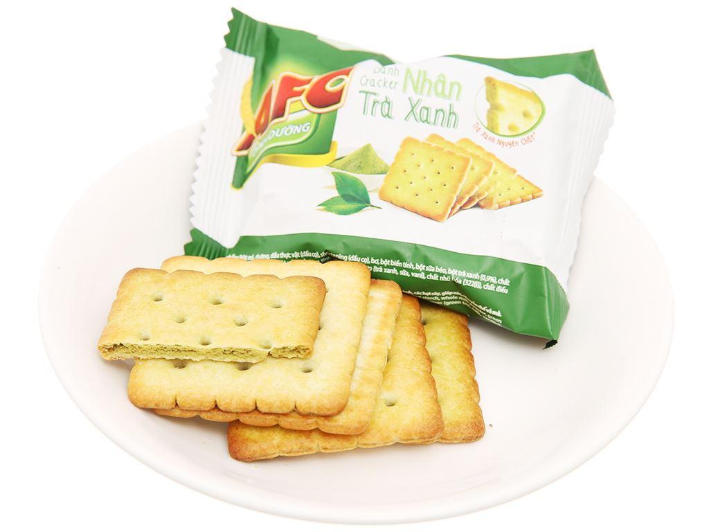 Bánh cracker nhân trà xanh AFC Dinh Dưỡng gói 144g 5
