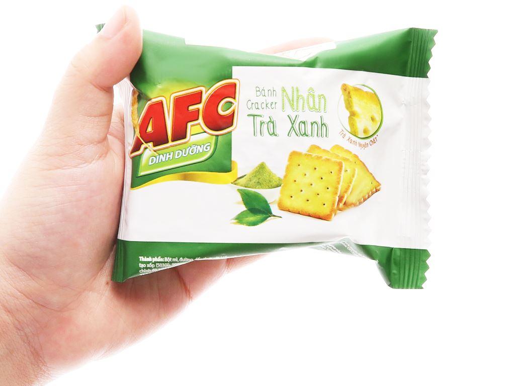 Bánh cracker nhân trà xanh AFC Dinh Dưỡng gói 144g 4