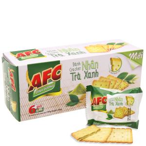 Bánh quy dinh dưỡng nhân trà xanh AFC hộp 144g