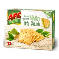 Bánh quy AFC Cracker nhân Trà xanh 288g (12 gói)