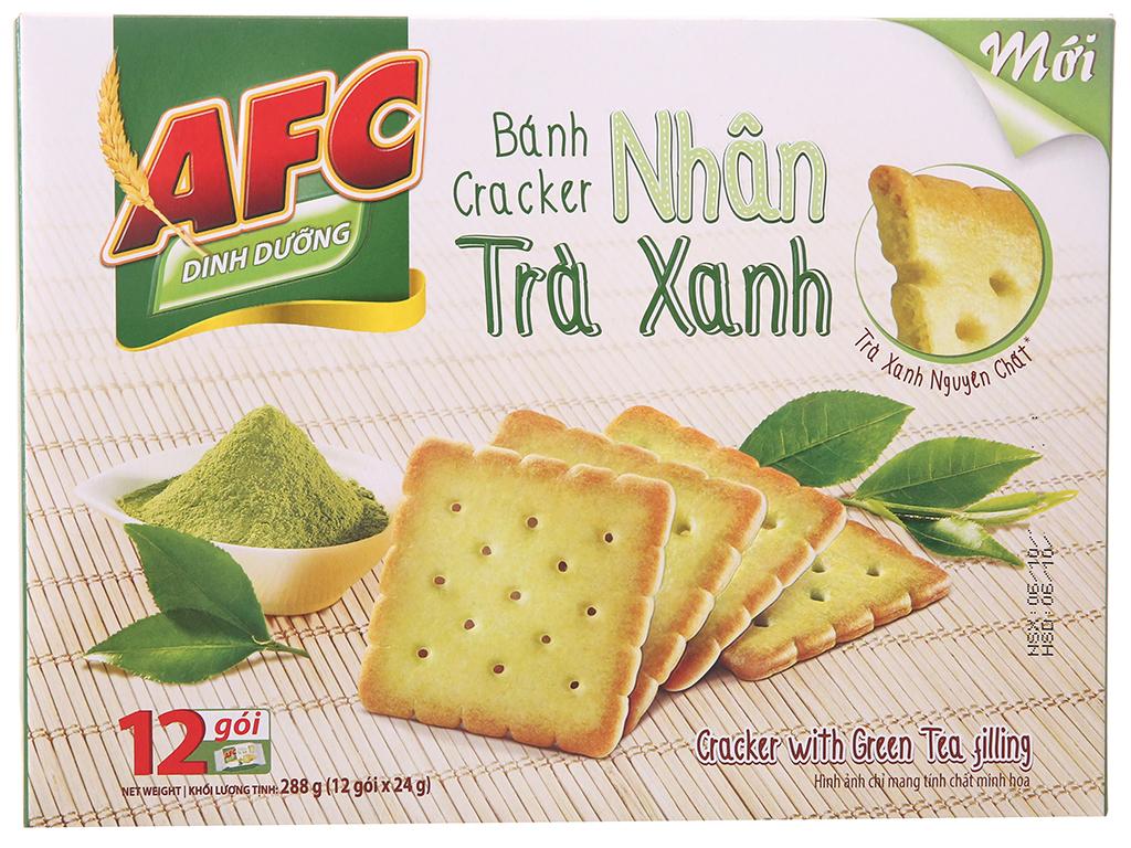 Bánh quy dinh dưỡng nhân trà xanh AFC hộp 288g 2