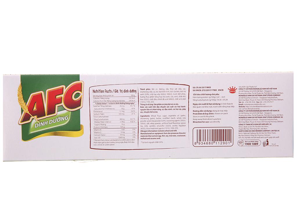 Bánh quy dinh dưỡng nhân trà xanh AFC hộp 288g 3