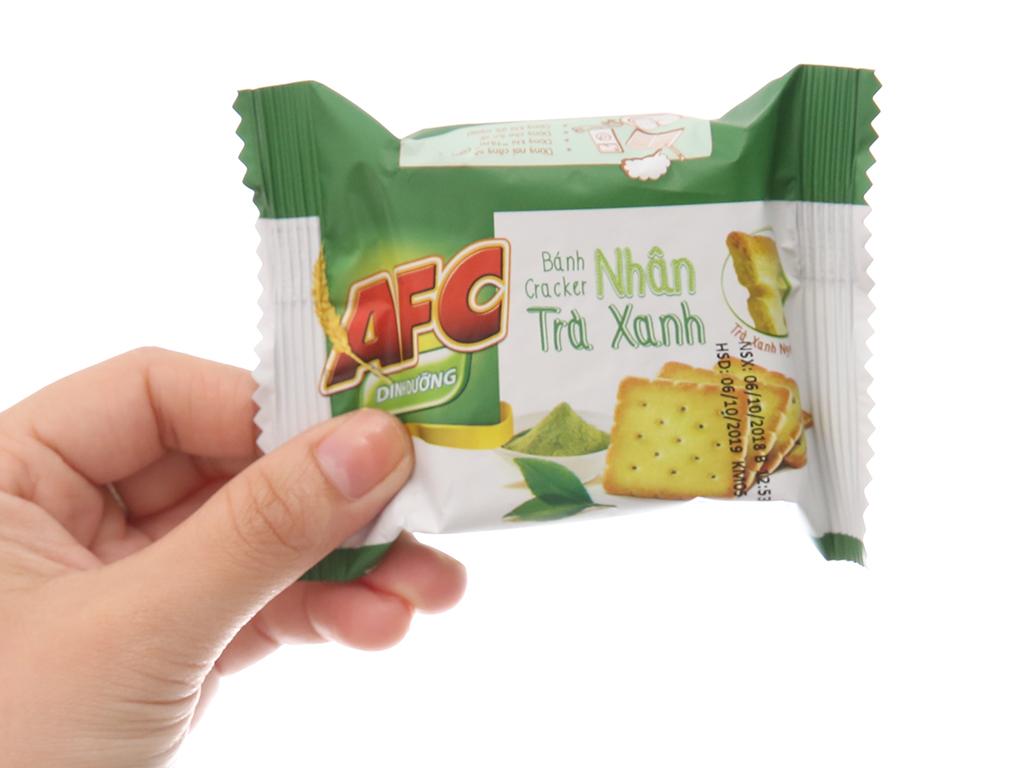 Bánh quy dinh dưỡng nhân trà xanh AFC hộp 288g 4
