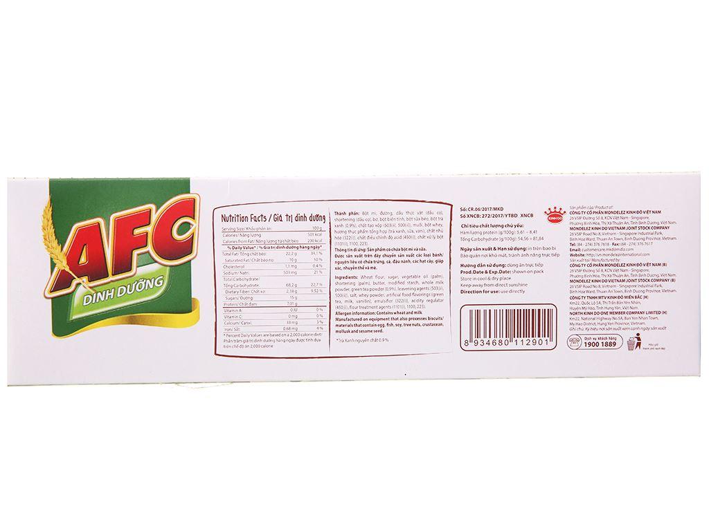 Bánh cracker nhân trà xanh AFC Dinh Dưỡng hộp 288g 2