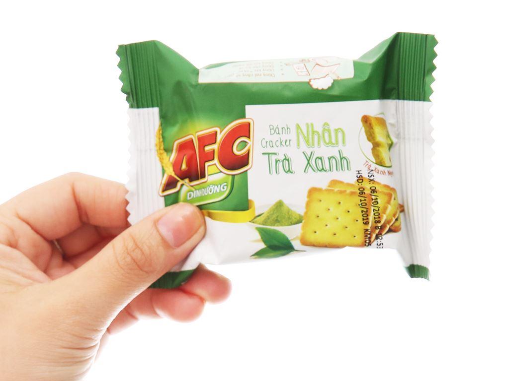 Bánh cracker nhân trà xanh AFC Dinh Dưỡng hộp 288g 4