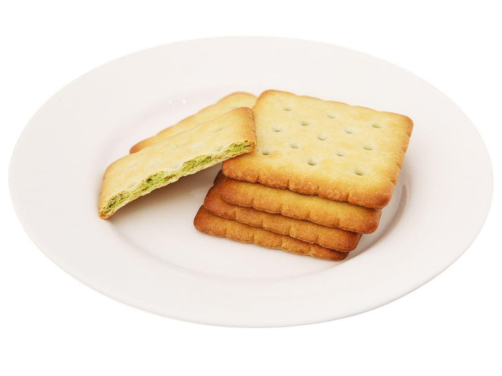 Bánh cracker nhân trà xanh AFC Dinh Dưỡng hộp 288g 5