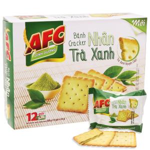 Bánh quy dinh dưỡng nhân trà xanh AFC hộp 288g