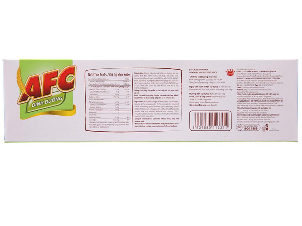 Bánh quy dinh dưỡng nhân đậu nành và mè AFC hộp 168g 3